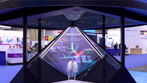 hologram display for rent at an expo in USA