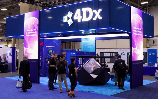 a rented 3D holographic display Dreamoc Diamond at expo