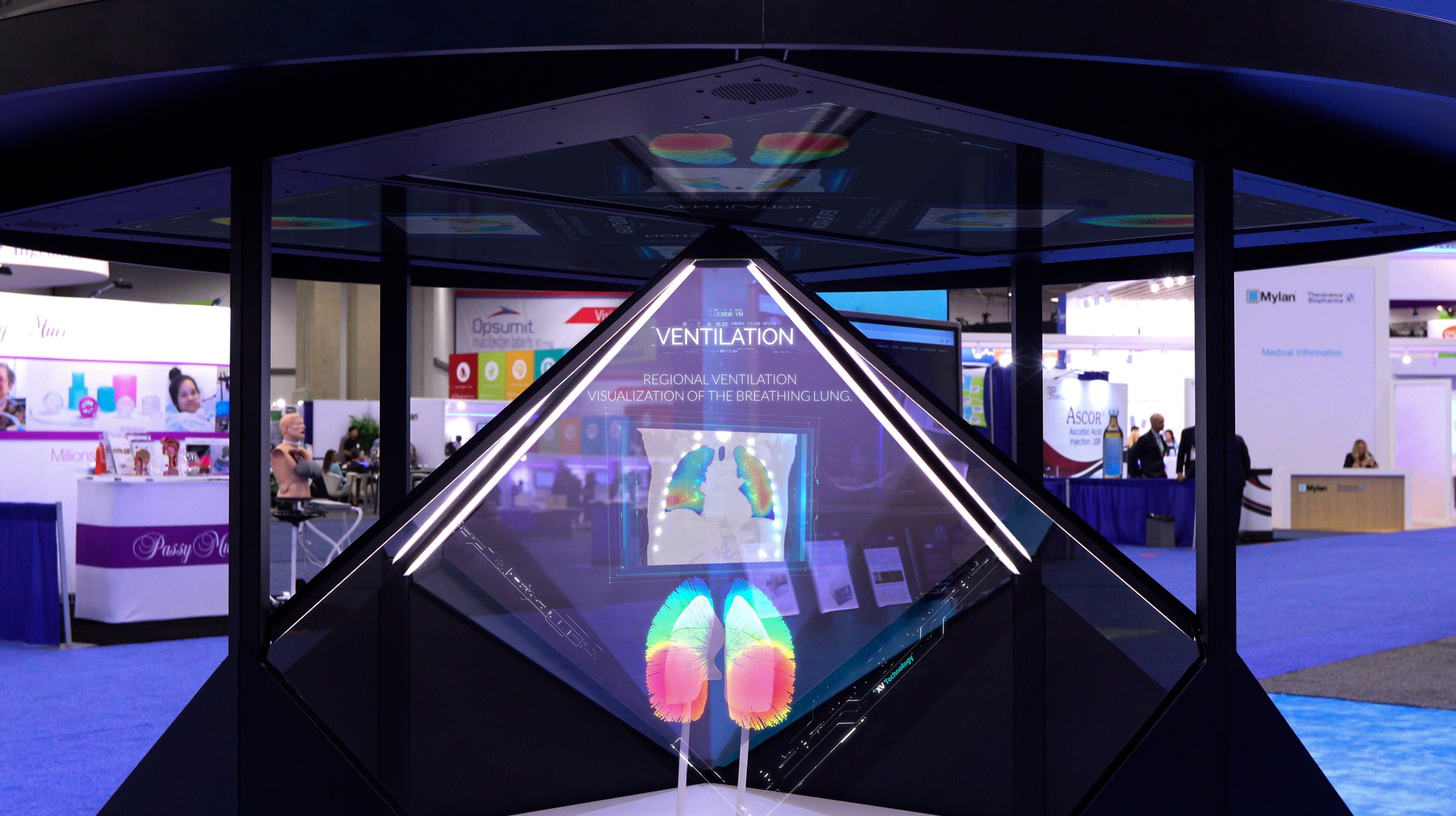 Dreamoc Diamond 3D holographic display at expo in USA