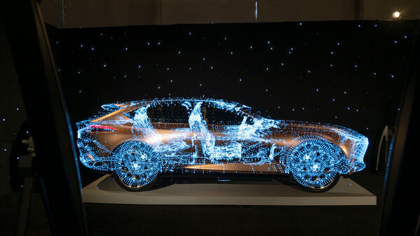 3d holographic screen - DeepFrame for museums, expos and events